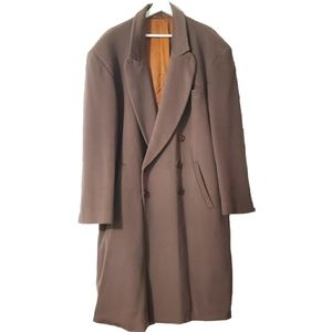 Messori Italian Dblbreasted Wool Cashmere Overcoat